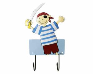 Mila Captain Jack Parrot - 2er Haken - Pirat Garderobe - Wandhaken