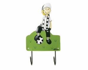 Mila Tooor! Fussballer - 2er Haken - Fußballer Garderobe - Wandhaken 01166371-0260-00013074