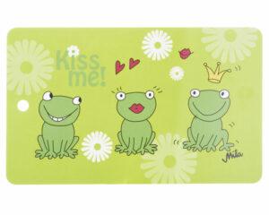 Mila Frosch Kiss Me Frühstücksbrettchen - grün - Resopal mit Loch zum Aufhängen01166371-0370-00024524