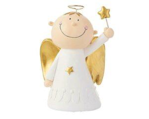 Mila Engel Max mit Sternenstab - Deko Figur stehend 15 cm