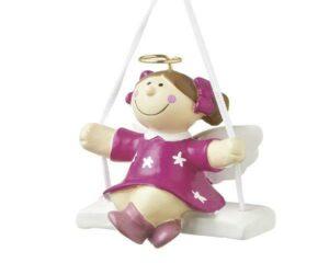 Schutzengel mini Deko Figur Sterntaler auf Schaukel - MILA Engel
