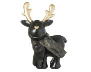 Deko Figur Elch - MILA Elch Karl Gustav stehend, schwarz