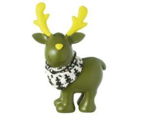 Deko Figur Elch - MILA Elch Gustavsons stehend, grün