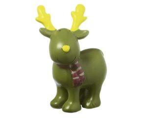 Deko Figur Elch - MILA Elch Gustavsons stehend, grün 6 cm