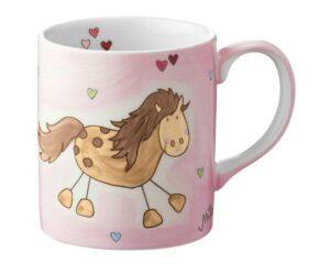 Mila Galopp mein Pony Becher - 280 ml - Tasse - Henkelbecher - Keramik