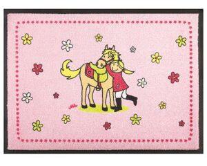 Fußmatte Reiter - Mila mein Pony - Pferdeliebe - Fußmatte mit Easy Clean - waschbar