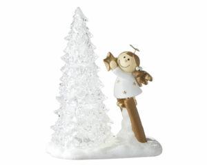 Mila Engel Schutzengel Sterntaler mit LED Lichterbaum
