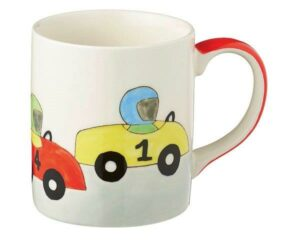 Mila Racing Cars - Auto Becher - 280 ml - Tasse - Henkelbecher - Keramik