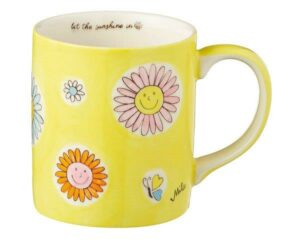 Mila Let the sunshine in Becher - 280 ml - Keramik - Blumen