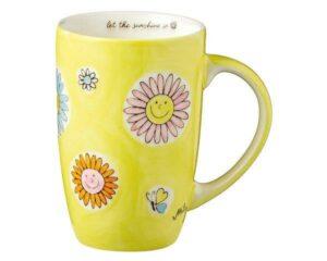 Mila Let the sunshine in Designbecher - 230 ml - Keramik - Blumen
