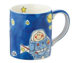 Mila Space Astronaut Becher - 280 ml - Tasse - Henkelbecher - Keramik 80151 Mila Space Becher, Astronaut Becher
