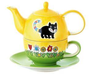 99141 Mila Kater Kasimir Tea for One Katzen Teekanne Katzen Kanne