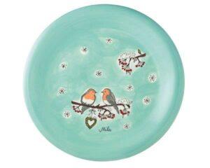 Mila Wintervögel Teller - Geschirr - Keramik