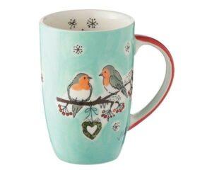 Mila Wintervögel Designbecher - 230 ml - Tasse - Henkelbecher - Keramik