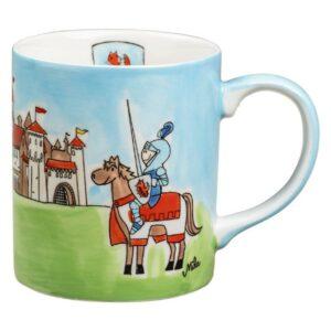 Becher Ritterspiele - 280 ml - Keramik - farbenfroher Becher für Kinder 80231