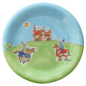 Teller Ritterspiele - Keramik - farbenfroher Teller für Kinder 84231