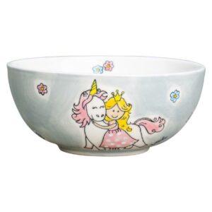 Kinderschale Prinzessin mit Einhorn - Eisschale - Müslischale 96233