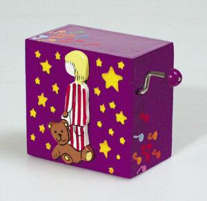 Kinder Drehorgel Spieluhr in Holzbox - Melodie für Elise - Mini Musik Box mit Handkurbel 03653