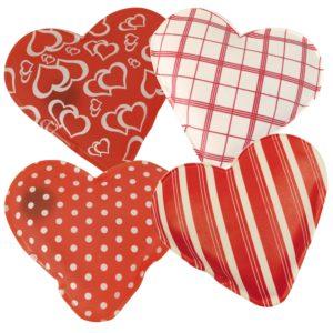 Taschenwärmer Herz - Handwärmer Taschenheizkissen Herzform Fingerwärmer - einzeln oder 4 verschiedene Design im Geschenkset