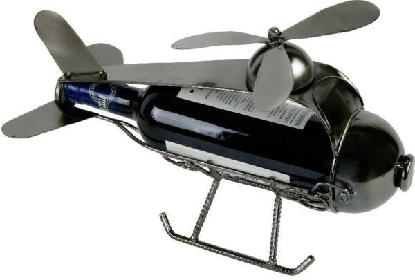 Flaschenhalter Hubschrauber Skulptur Helikopter Weinflaschenhalter, Metall