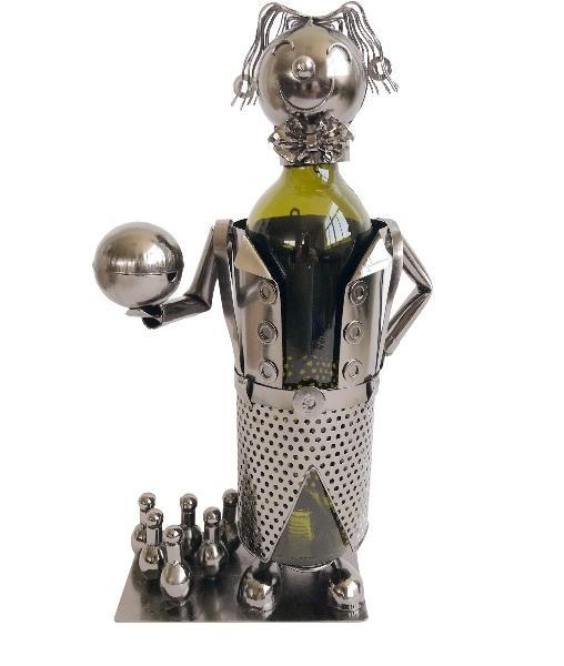 Flaschenhalter Bowling Spieler Skulptur Kegeln - Kegler