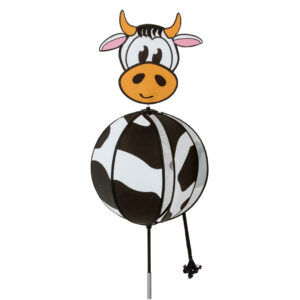 Spinning Ball Cow - Kugelwindspiel Kuh - HQ Windspiel Gartenstecker
