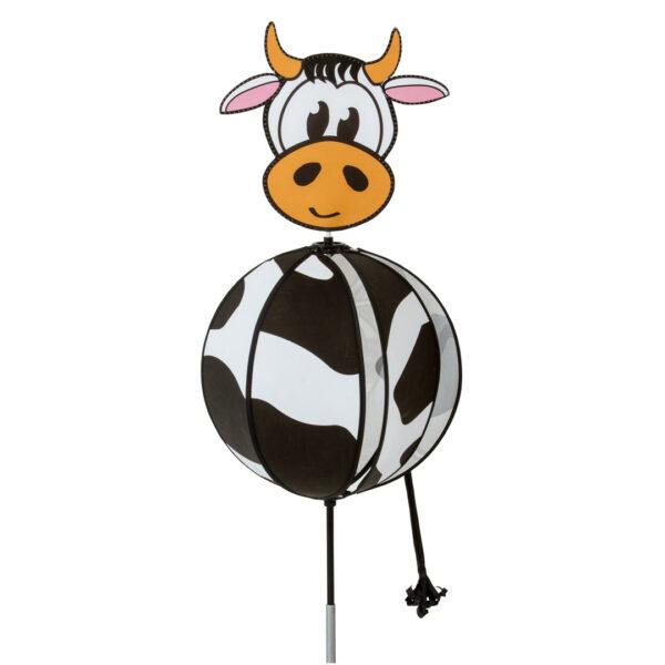 Spinning Ball Cow - Kugelwindspiel Kuh - HQ Windspiel Gartenstecker