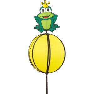 Spinning Frog Prince - Kugelwindspiel Froschkönig - Gartenstecker 360 ° drehend