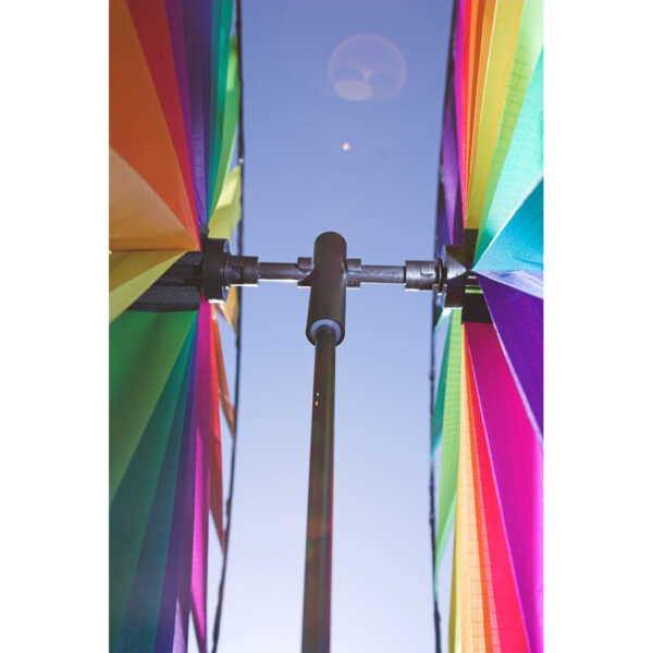 HQ Windspiel Duett Windmill Illusion Rainbow - doppeltes Windrad - Windmühle 360 ° drehend