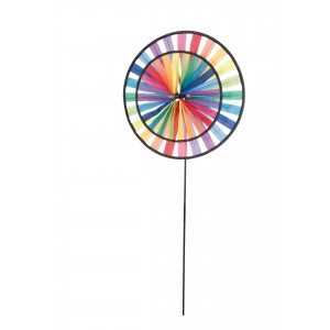 Magic Wheel Duett Rainbow - HQ Windspiel Garten Dekoration