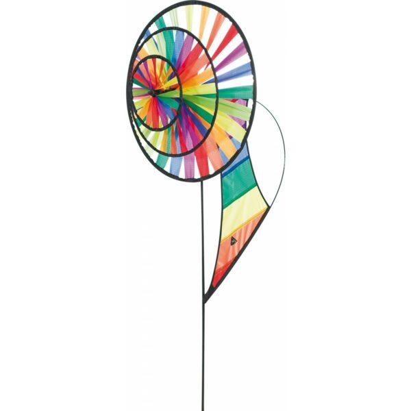 Magic Wheel Triple Banner Rainbow - HQ Windspiel Garten Dekoration