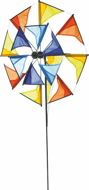 HQ Windspiel Duett - Durchmesser 70 cm - doppeltes Windrad - Windmühle 360 ° drehend