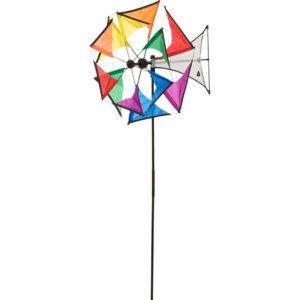 HQ Windspiel Mini Duett - doppeltes Windrad - Windmühle 360 ° drehend