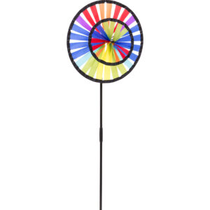 Ecoline Magic Wheel Duett Doppelwindrad Regenbogen Windspiel aus Segeltuch - Chinarad