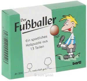 Geduldspiel Fußballer Holzpuzzle aus 13 Teilen - Stürmer Mini Puzzle