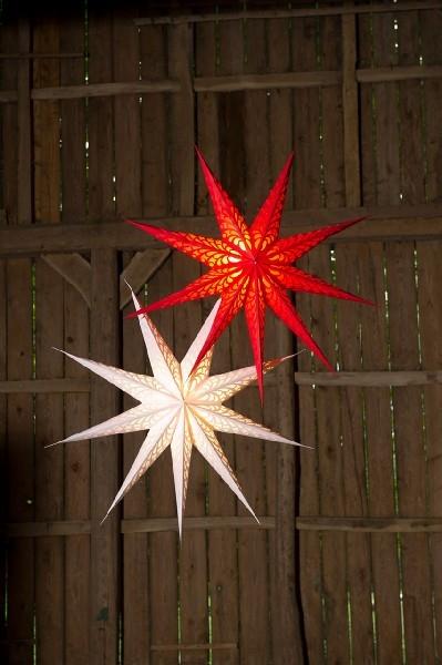 xl papier stern leuchtstern rot leuchtmittel w hlbar traumflug online shop das. Black Bedroom Furniture Sets. Home Design Ideas