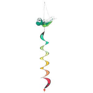 Dragonfly Twist Green -HQ Windspiel Spirale Mini Twist Regenbogenfarben - Drachenwindspiel 109462