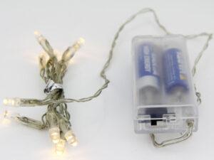10er LED Lichterkette – Zubehör für Papier Stern, Leuchtstern oder Lichtdekoration zum basteln