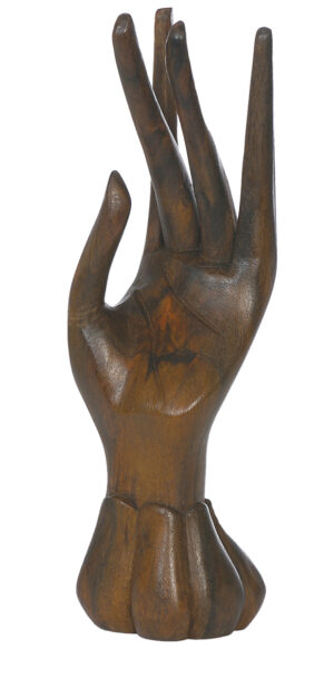 Schmuckhand aus Holz - Holzhand - rechte + linke Hand - Fairtrade