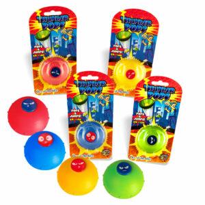 Thunder Pops Gummi-Ufo - Das Original - Schnalzer Popper Popup Spielzeug Mitgebsel 12-0973