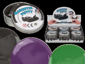Magnetische Knete in Dose - magische Kinderknete Spielzeug Knetmasse Bastellknete