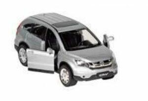 Welly Modellauto Honda CR-V, 1:30 - Modellauto aus Spritzguss mit Sound und Licht und Rückzugmotor
