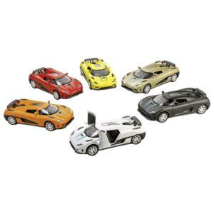 Spielauto Sportwagen Momentum, mit Rückzugsmotor, Licht und Sound, Spritzguss, L= 14 cm