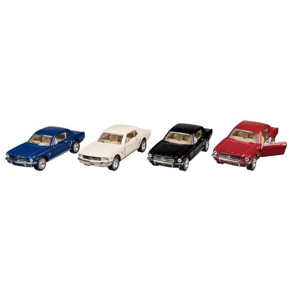 Modellauto Ford Mustang (1964), Spritzguss, 1:36, L= 13cm - Welly Oldtimer mit Rückzugsmotor