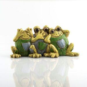 Drei Frösche Skulptur - Nichts hören, nichts sehen, nichts sagen - Frösche Dekoration