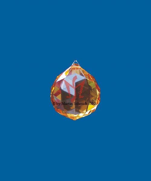 farbige Bleikristallkugel Prisma Kristallkugel Facettenschliff - blau/Grün/orange/Topaz/emerald/bernstein