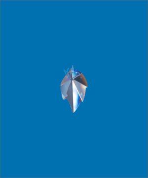 BleikristallPrisma Blatt, SWAROVSKI STRASS®- Kristallblatt am Perlonfaden