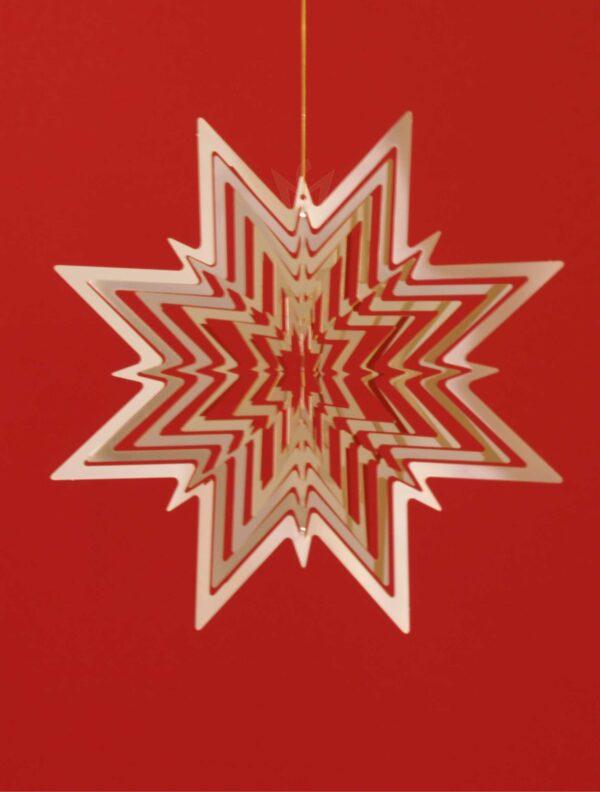 Messing Spirale Stern vergoldet - Stern mit 8 Zacken - Made in Germany