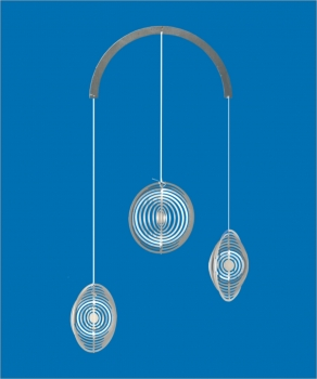 Mobile Edelstahlspirale Minispiralen Edelstahl 3 x Ringe 48mm