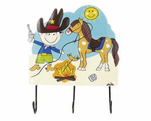 Mila Cowboy - Mila 3er Haken - Cowboy Garderobe - Wandhaken 13001